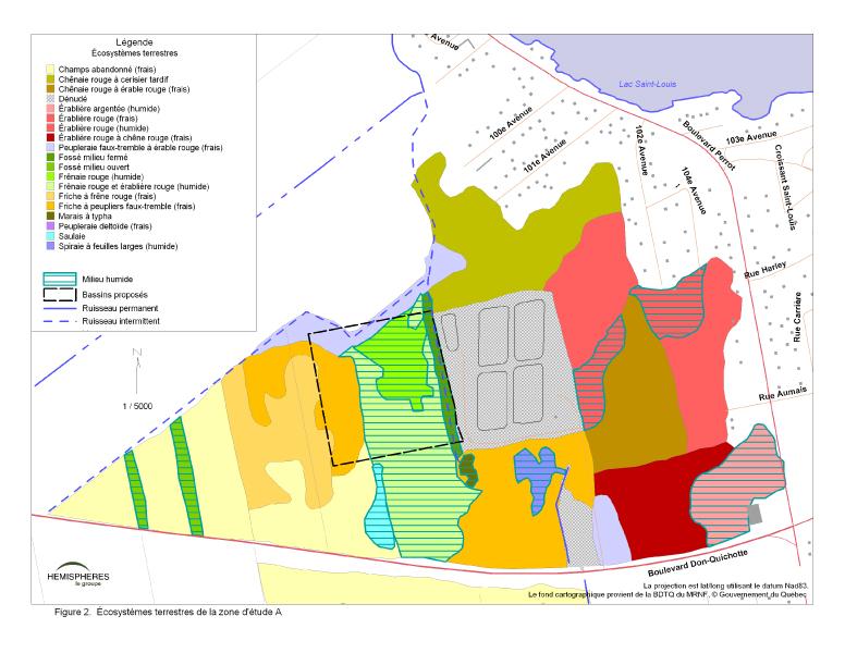 Carte des écosystèmes terrestres